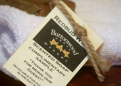 Buttonwood-Cabins Towels and Label