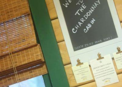 Buttonwood-Cabins- Inside Chalkboard