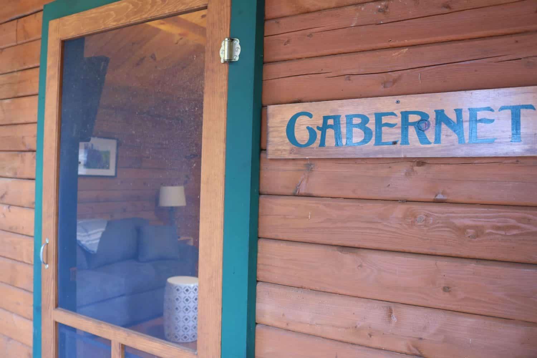 Buttonwood Cabins - Cabernet Signage