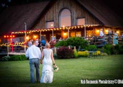 Couple Walking up to Winery Building