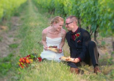 Married Couple In Buttonwood Vines on Ground