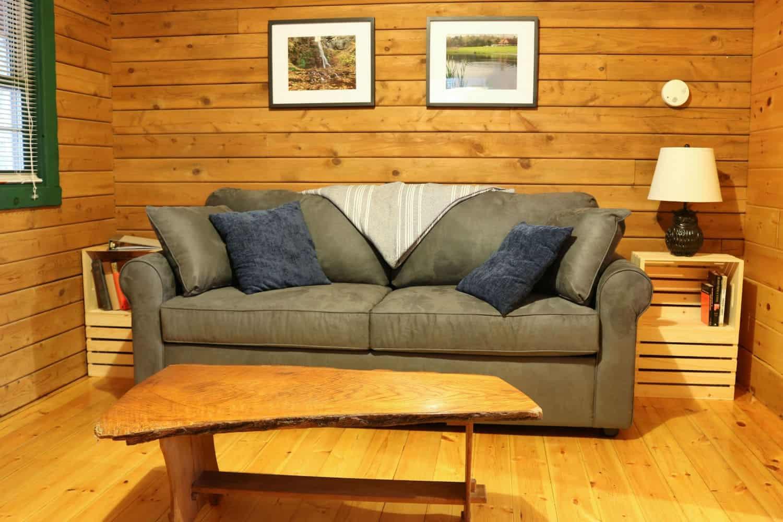 In Buttonwood Grove Cabin Merlot-Living-Room