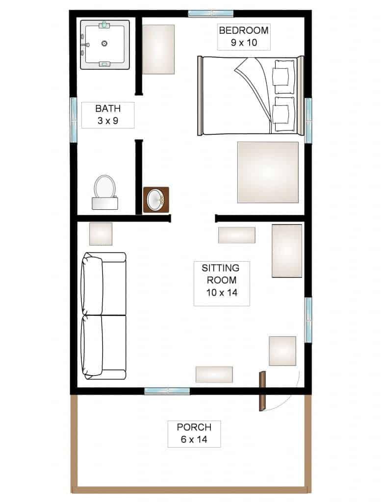Cabernet- Cabin Floor Plan