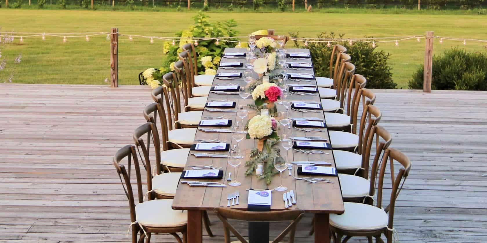 Buttonwood Grove Wedding Table Set