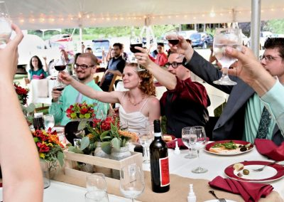 Buttonwood Grove Weddings Party All Raising Glasses