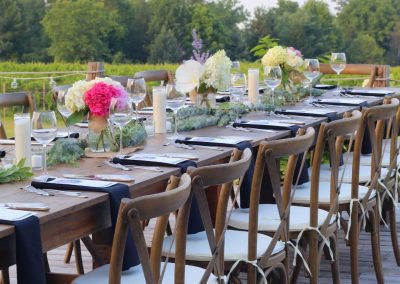 Buttonwood Grove Wedding Table Set From Side Angle