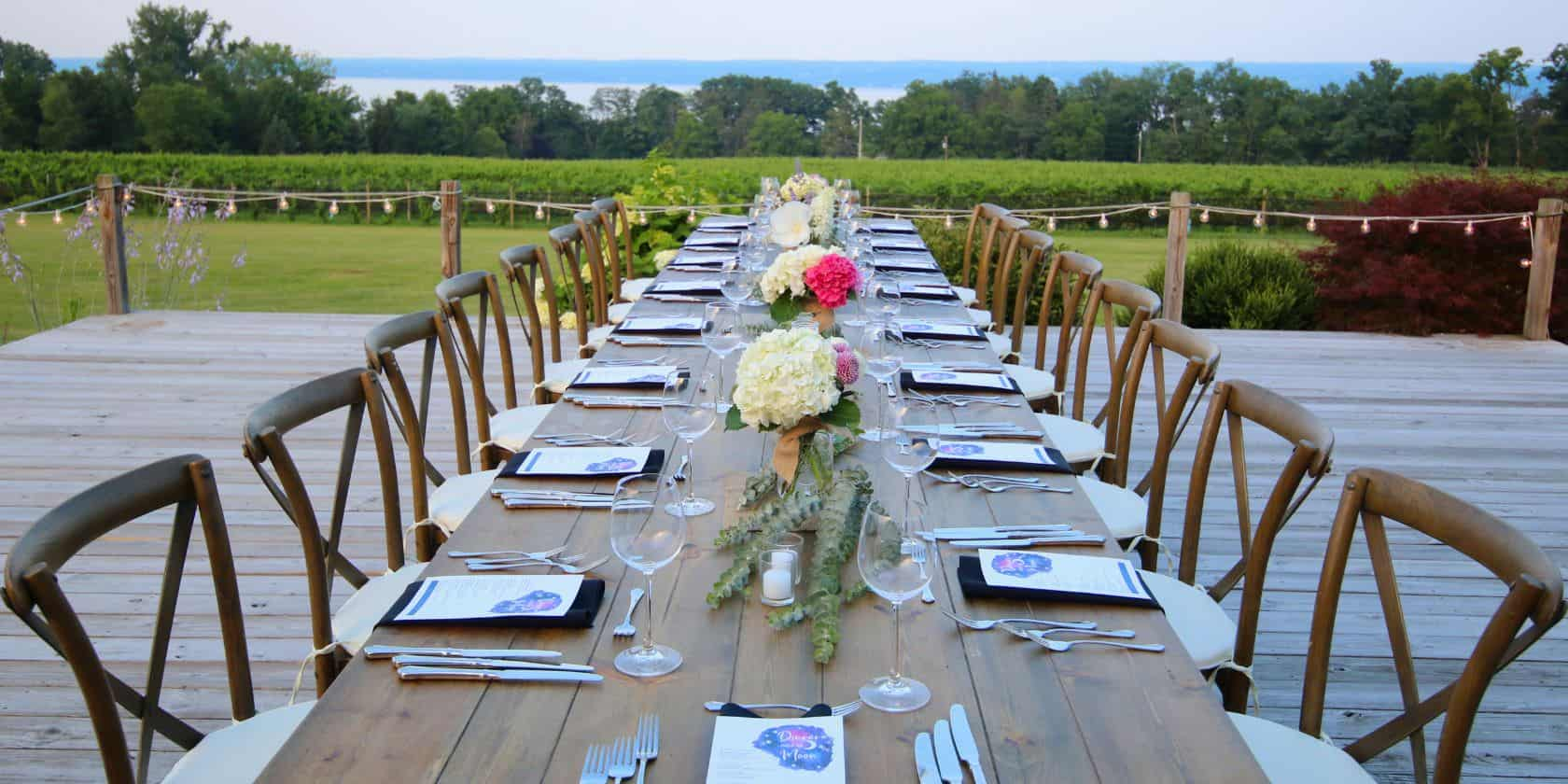Buttonwood Grove Wedding Table Set